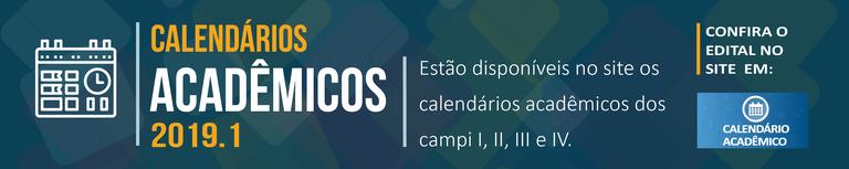 Calendários Acadêmicos 2019.1